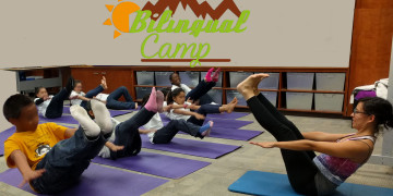Seed yoga kids campwith text